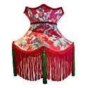 Red Monkey Print Velvet Crown Shade image
