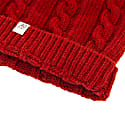 Red Small Braided Wool & Cashmere Beanie image