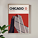 Chicago Willis Tower Modernist Architectural Travel Poster image