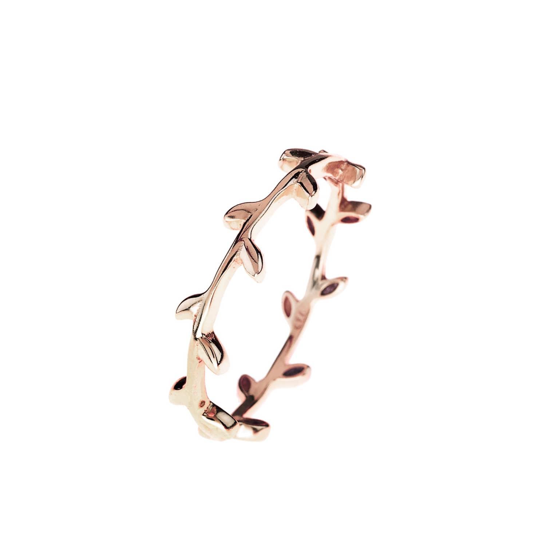 Latelita Ring Gold Gemstone Pink Rose Tourmaline Stacking Midi Jewellery Silver