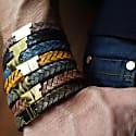 Black Gold Leather Bracelet Serac Bracelet image