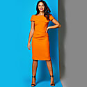 Olympia Dress Orange Crepe image