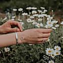 Meadow Flowers Circle Bracelet Sterling Silver image