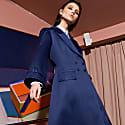 A Line Coat Blue image