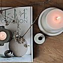 Concrete Candle Plate In White image
