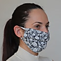 Pack Of 3 Reusable Protective Cloth Masks With Integrated Filter In Navy image