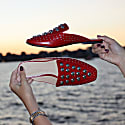 West Virginia Studded Red Mule Flat image