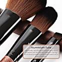 Full Vegan Makeup Brush Set - Wood & Black image