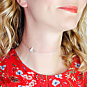 Butterfly Choker Necklace Silver image
