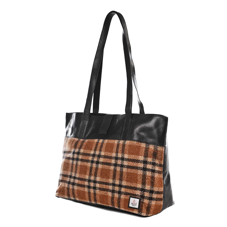 2c88318847c Camel Harris Tweed Tote Bag | Maccessori | Wolf & Badger