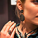 Monte Carlo Earring Gold Black Zircon image