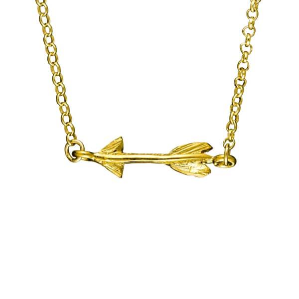 CHUPI Follow Your Dreams Arrow Necklace Gold