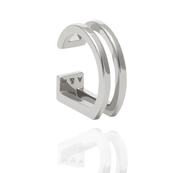 ASTRID & MIYU The Simple Wishbone Ear Cuff In Silver