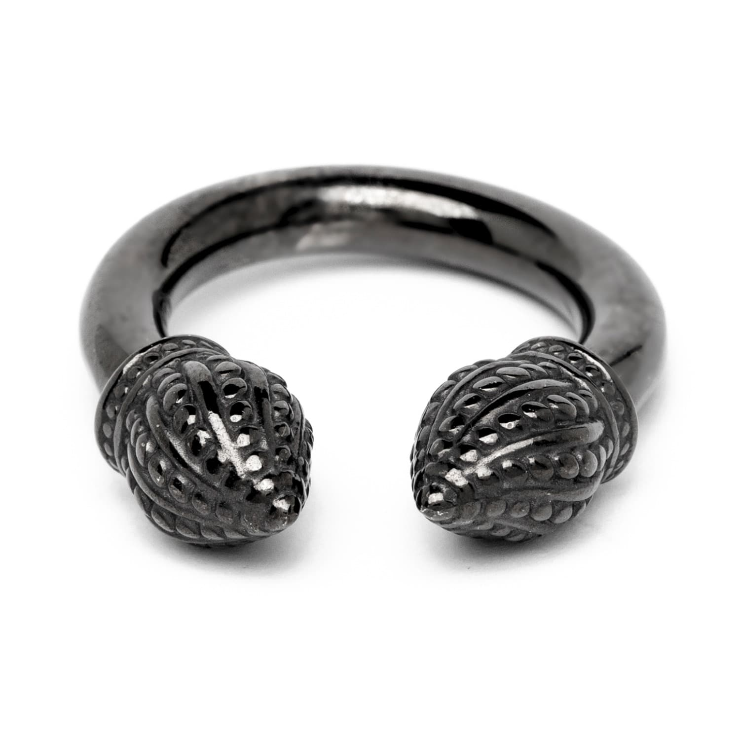 Graphite Cylinder Ring by Durrah Jewelry