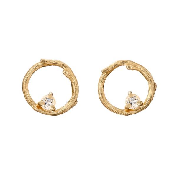 CHUPI Reach For The Stars Stud Earrings Topaz in Gold