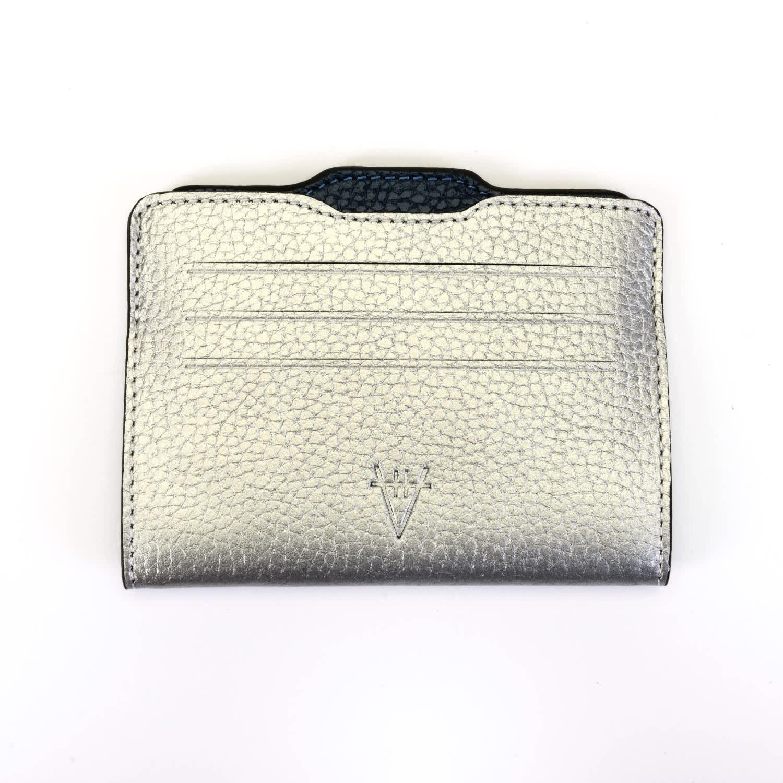 a80f46c703 Double Card Holder Silver & Metallic Navy Blue | Hiva Atelier | Wolf ...