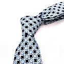 Wheels - Navy - Hand Finished Silk Tie image