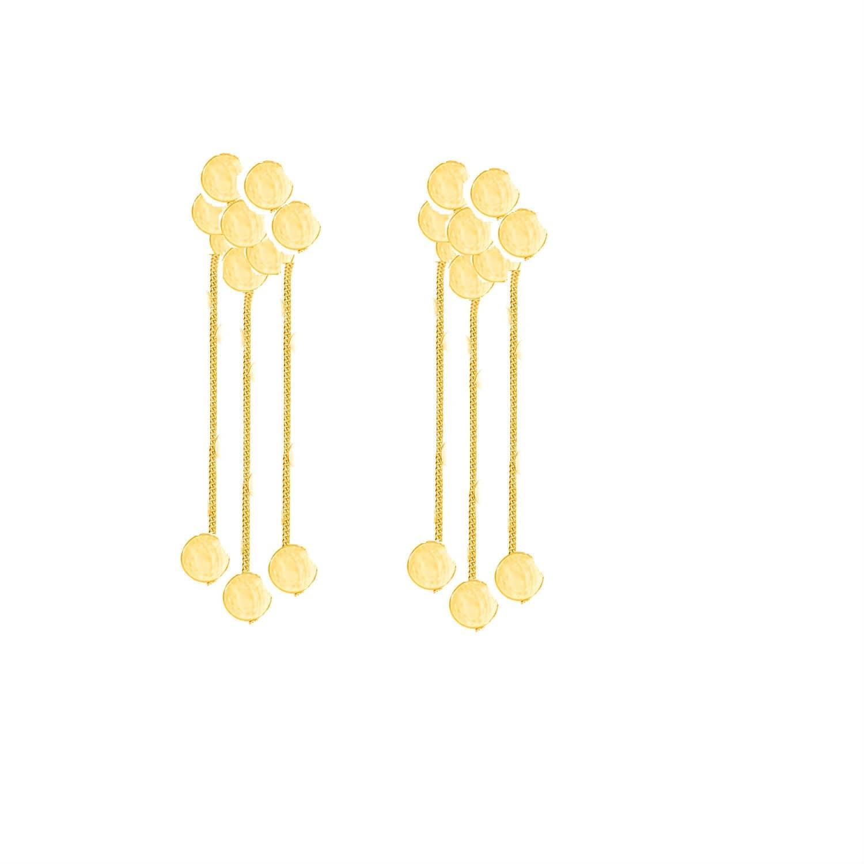 2e5dca12fe7248 Stardust Corvus Rain Cloud Solid Gold Earrings | Lily Flo Jewellery ...