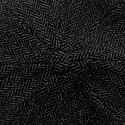 Thompson Baker Boy Hat- Black Herringbone image