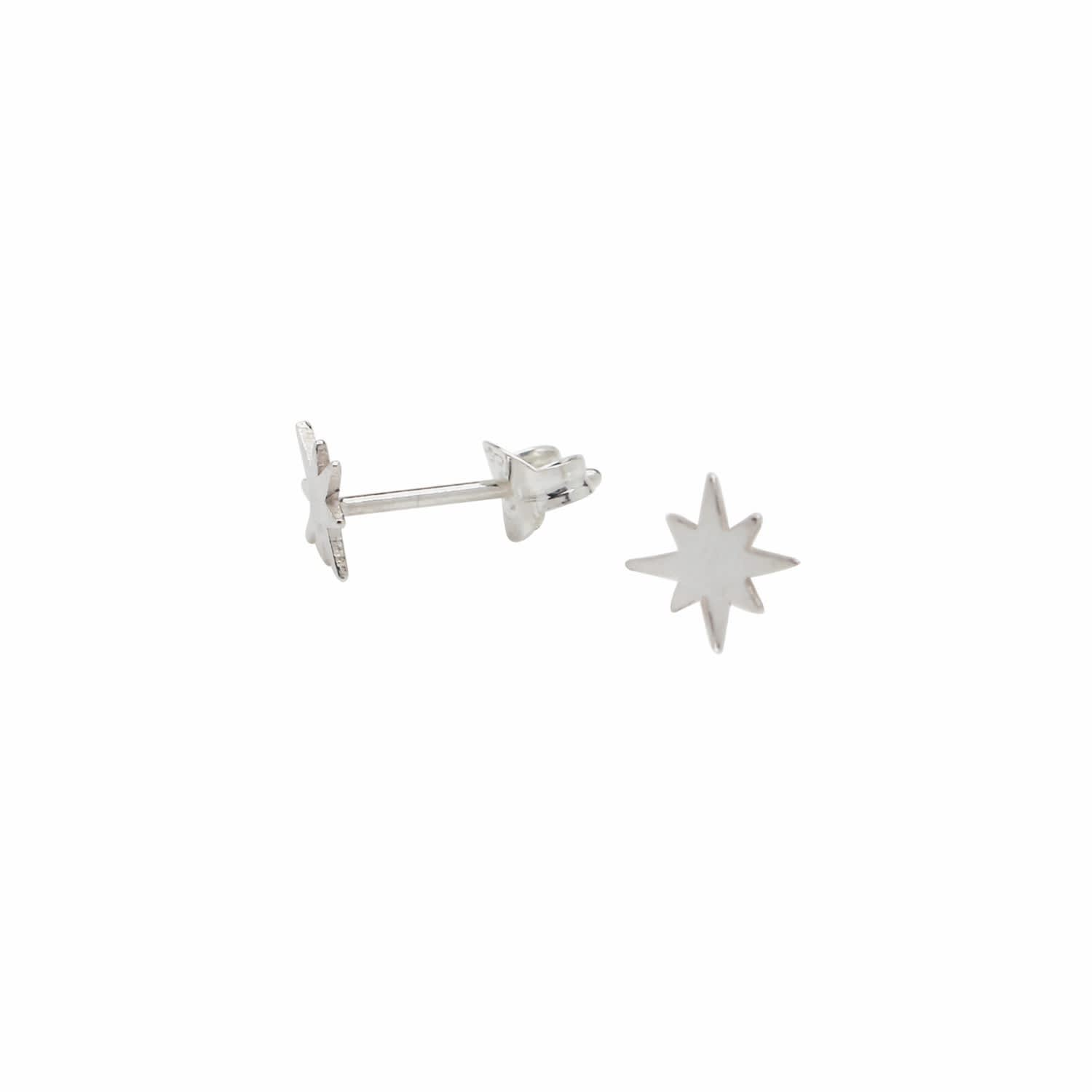 9bab4e4ca8c Tiny Star Stud Earrings Sterling Silver by Lucy Ashton Jewellery