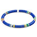 Blue Nakuru Silver & Vinyl Disc Bracelet image
