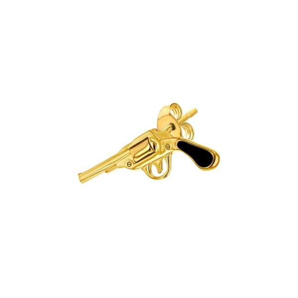 True Rocks Black & Gold Pistol Stud