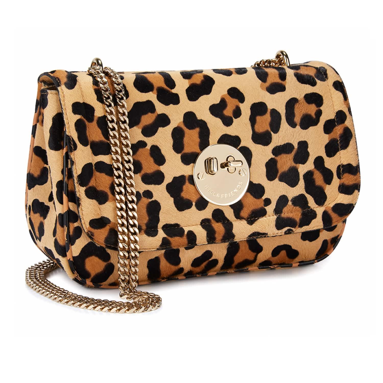 38f3e0697 Leopard Print Haircalf Happy Cross-Body Chain Bag | Hill & Friends ...