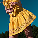 Yarina Mini Skirt in Canary Yellow image