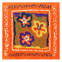 Crayon Flowers Medium Square Scarf image