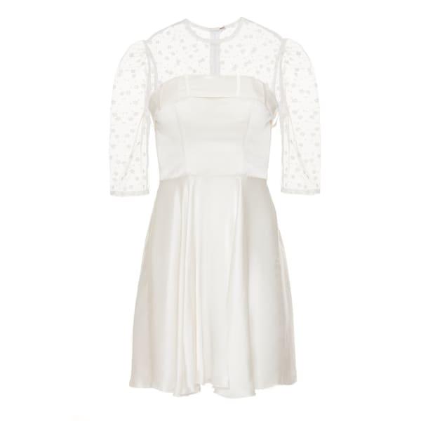 Jiri Kalfar White Short Dress With Bow