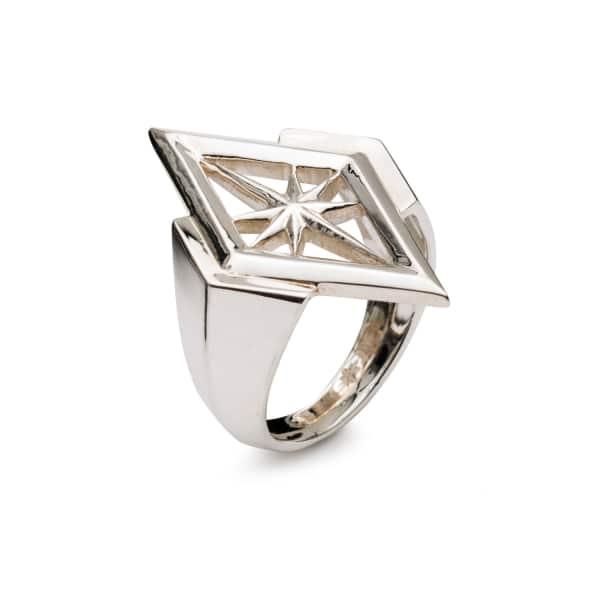 RACHEL JACKSON LONDON Nova Star Ring In Silver