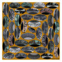 Beads Ochre Medium Square Scarf image
