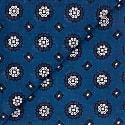Floral Cotton Foulard - Blue image