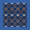 The Tile Pocket Square Steel Blue image