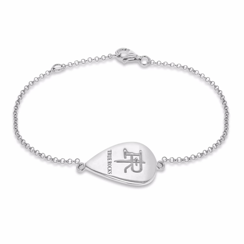Plectrum Bracelet Silver