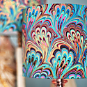 Teal Bouquet Silk Shade image