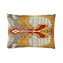 Artemis Dots Ikat Double Sided Heritage Design Silk Cushion image