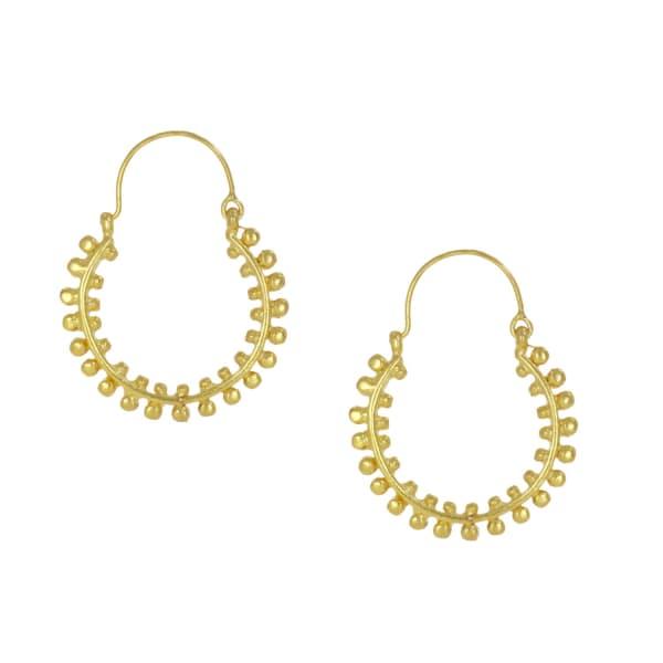 Ottoman Hands Andromeda Statement Gold Hoop Earrings