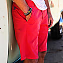 Turtle Bermuda Shorts In Red image