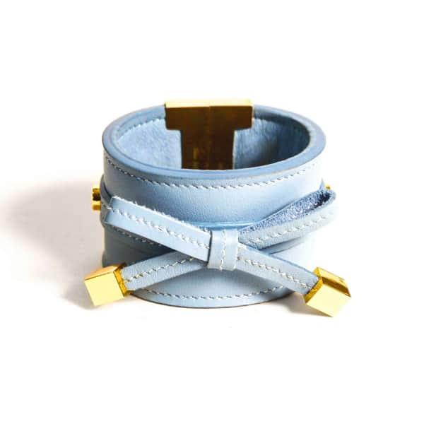 TISSUVILLE Bow & Cube Dusk Blue Bracelet Gold