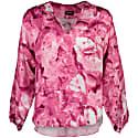 Farrah Pink Galena 100% Silk Batwing Top image