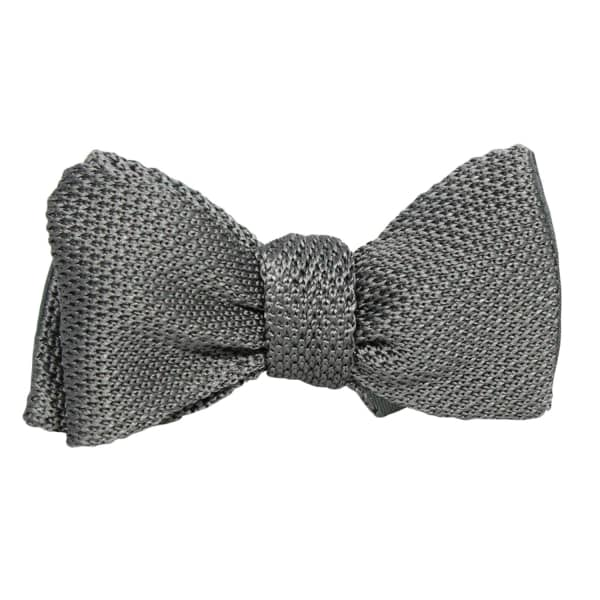 40 COLORI Grey Knitted & Woven Silk Butterfly Bow Tie
