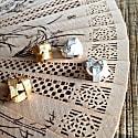 Algae Earrings Gold image
