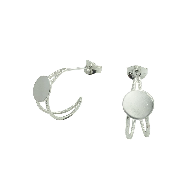 e077f7e6dde062 Mini Disc Hoop Earrings Sterling Silver | Lucy Ashton Jewellery ...