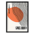 Space Oddity David Bowie Inspired Retro A3 Art Print image