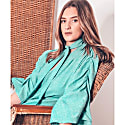 Maxine Silk Linen Blouse With Neck Tie In Mint image