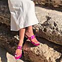 Uni Pink Jeweled Sandals image