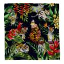Tiger's Jungle Fashion Party Silk Scarf image