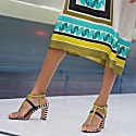 South Carolina Colorful Block Heels Summer Sandals image