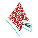 Sparks & Cogs - Orange - Hand Rolled Silk Pocket Square image